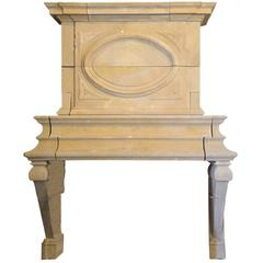Louis XIII Jeaumont French Limestone Fireplace, 17th Century