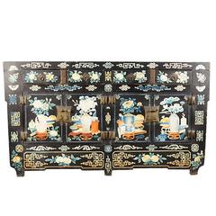 Chinese Folk Painted Coffer