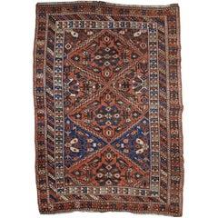 19th Century Antique Qashqai Rug
