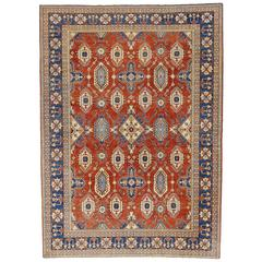 Vintage Persian Shiraz Rug with Modern Style in Traditional Colors