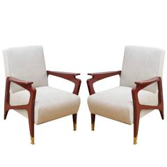 Pair of French Art Deco Armchairs, circa 1940s
