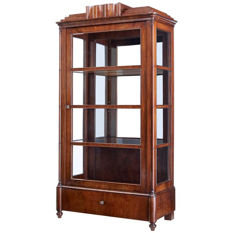 19th Century Danish Mahogany Display Cabinet