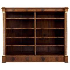 Late 19th Century Mahogany Empire Influenced Open Bookcase