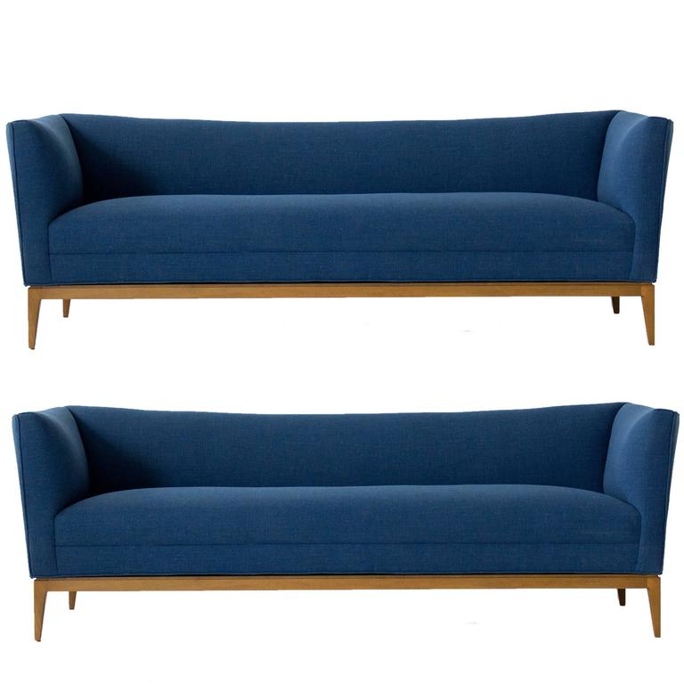 Pair of Paul McCobb Sofas for Directional For Sale