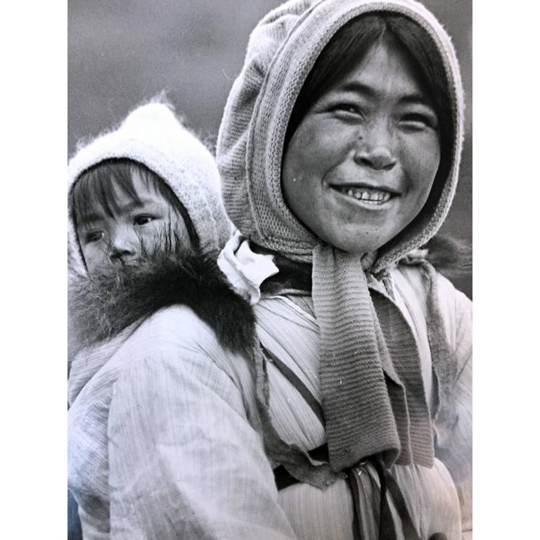 Eskimo Mother and Her Baby, Alaska 1