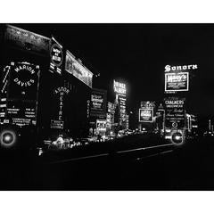 Time Square at Night, New York City, Mid-1930s