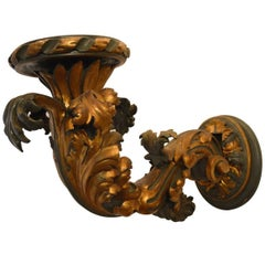 18th Century Large Gilt Hand-Carved Wall Sconce