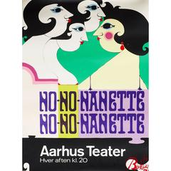 Danish Theater Poster by Bjorn Wiinblad from 1973