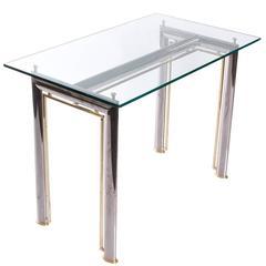 Brass and Chrome Desk
