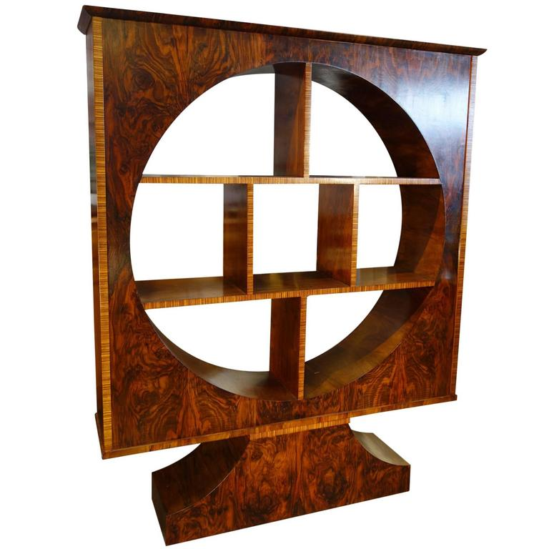 Italian Mid Century Art Deco Unique Vetrine Showcase Walnut with Rosewood