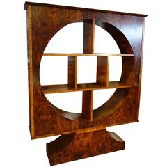 Italian Mid Century Art Deco Unique Vetrine Showcase Walnut with Rosewood