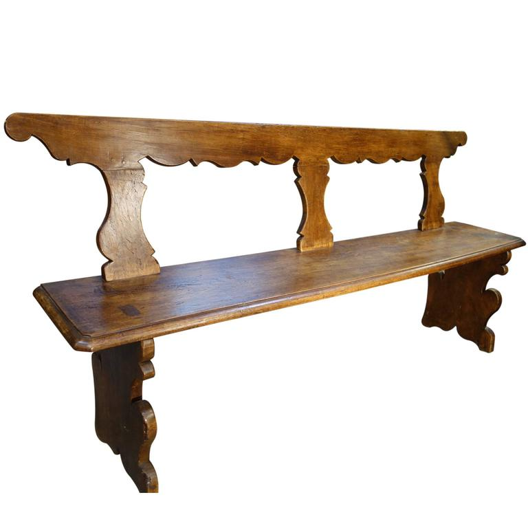 18th Century Antique Italian Tuscan Bench 1