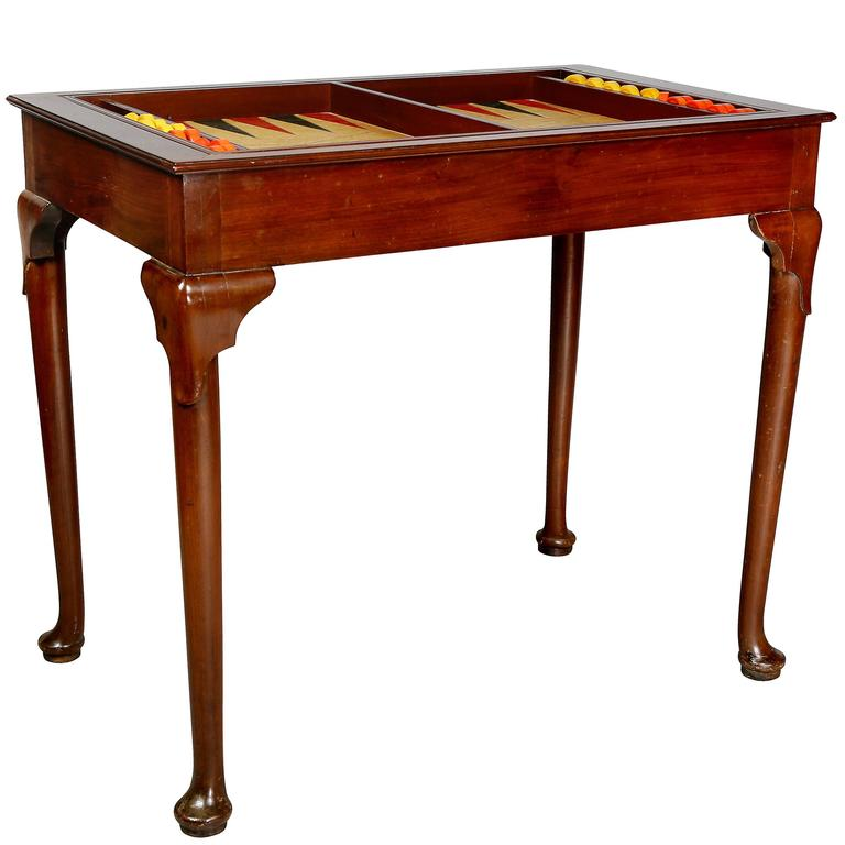 Queen Anne Style Mahogany Table For