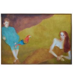 Massive Signed Original Oil on Canvas Painting by Joanna Zjawinska