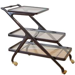 Mid-Century Modern Bar Cart with Removable Top Tray