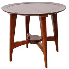 French Art Deco Chic Round Side Table