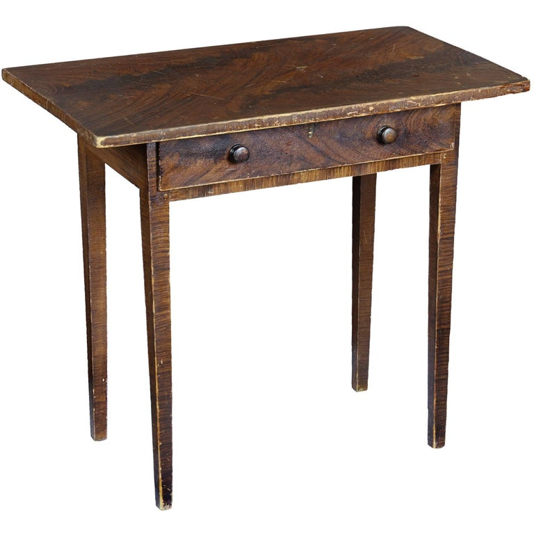 Grain-Painted Side Table