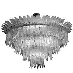 "Spectacular ""Palmette"" Chandelier by Barovier & Toso, Murano, 1960s"
