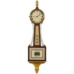 Patent Timepiece Banjo Clock, Providence, RI by Walter H. Durfee, circa 1900