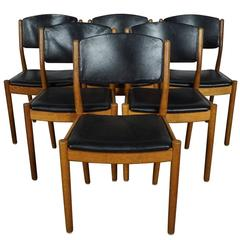 Set of Six Dining Chairs Designed by Poul M. Volther, Model J61, circa 1960