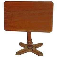 "French Walnut 3-in-1 Adjustable Table/Easel/Bed Stand, ""Soleil"", circa 1870"