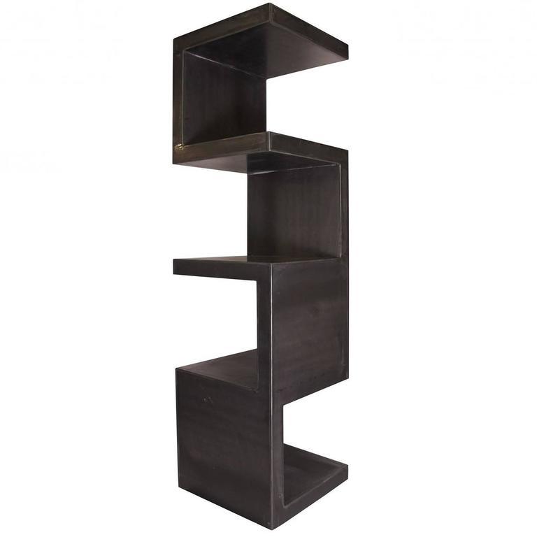 Black Metal Bookshelf Abstract