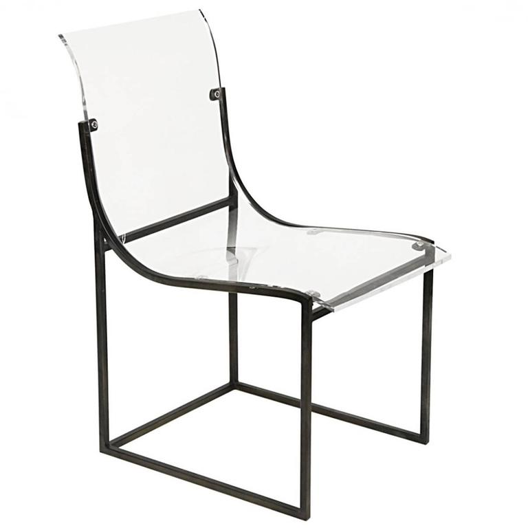 Acrylic And Metal Chair