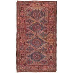Beautifully Designed Antique Sumak Rug