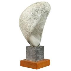 Hand-Carved Stylized Stone Sculpture by Daniel Pokorn
