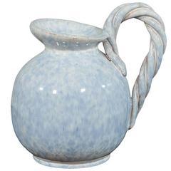 Belgium 1950s Ceramic Pitcher Signed
