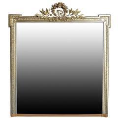Louis XVI Style Gilded Wood Mirror, 19th Century
