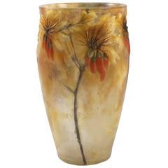 """Art Nouveau Vase """"Lyciet de Barbarie"""" by Argy-Rousseau"""