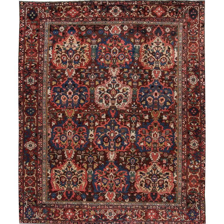 Lovely Nice Antique Bakhtiari Rug