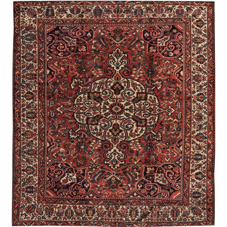 Beautiful Decorated Antique Bakhtiari Rug