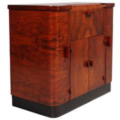 Art Deco Dry Bar Cocktail Cabinet by Meroni & Fossati, Osvaldo Borsani Style