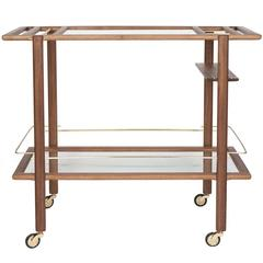 Sable Bar Cart in Walnut