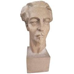 Stone Portrait of Ezra Pound, by Francesco La Monaca