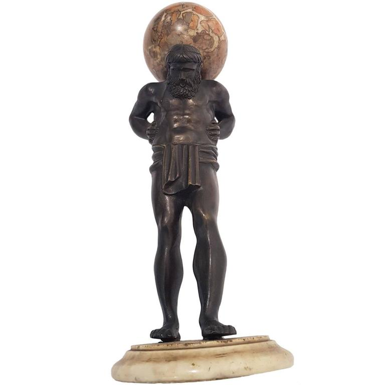 Atlas Bronze Statue, Early 19th Century, Italy