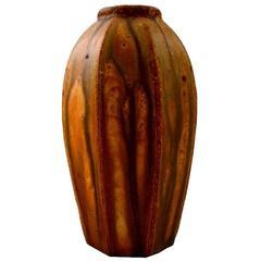 Rare Arne Bang Hexagonal Ceramic Vase