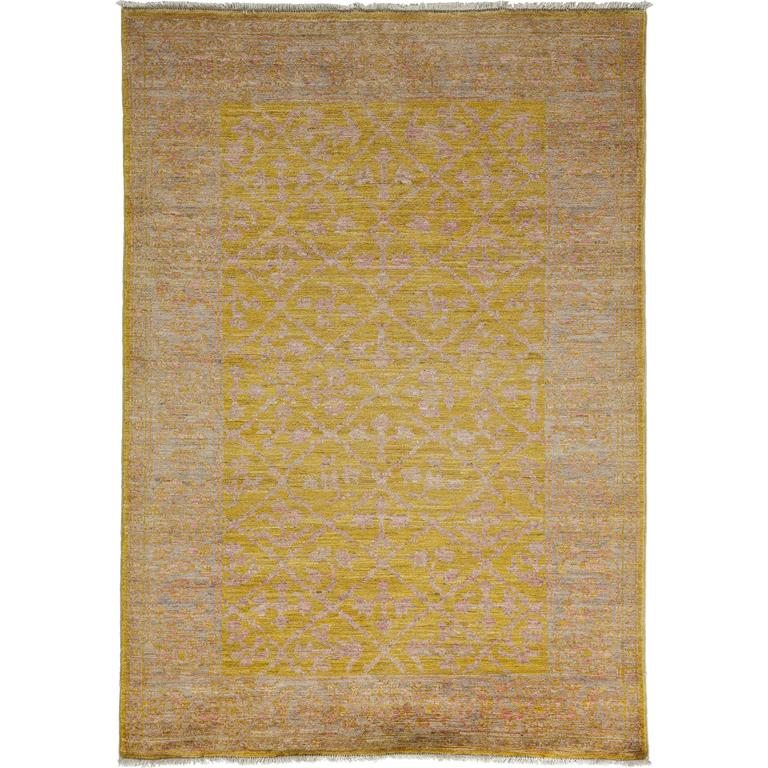 Oushak Rugs For Sale: Yellow Oushak Area Rug, Solo Rugs For Sale At 1stdibs