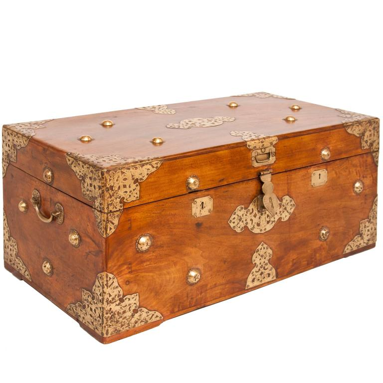 19th Century Camphor Wood Chest 1