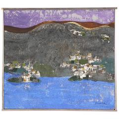 Oil on Board of a Coastal Landscape, Signed Fischer