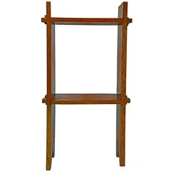 Early 20th Century Arts & Crafts Mission-Style Oak Bookshelf/Side Table