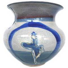 Thom Lussier Blue Ceramic Vessel