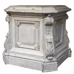 Carved and Molded Pedestal, 19th Century