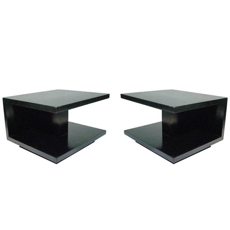 Van Keppel and Green Geometric Side Table, Pair