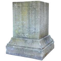 Important Stone Pedestal, 19th Century