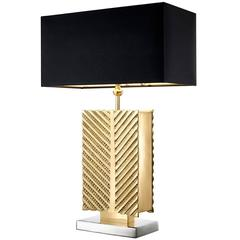 Opera Table Lamp in Polished Brass and Nickel Finish