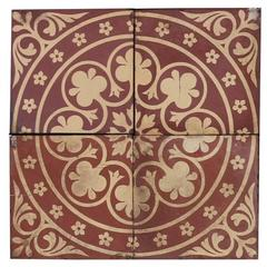 Antique Maw & Co Encaustic Tiles