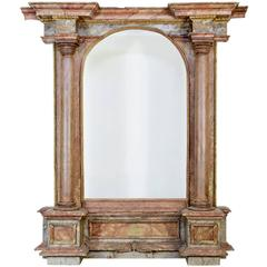 18th Century and Later Painted Italian Architectural Mirror